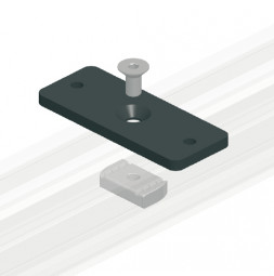 CUE-TRACK 2  Ceiling Mounting Plate