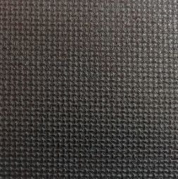 Flame Resistant vinyl Coated Surface with circular embossed pattern