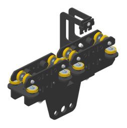 JOKER 95: Carro HD 150 con fijación de cuerda, guiado superior