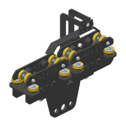 JOKER 95: Carro HD 150 con fijación de cuerda y varilla de final de carrera, guiado superior
