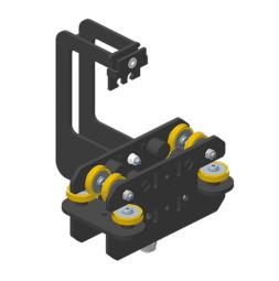 JOKER 95: Carro HD con fijación de cuerda, guiado superior doble