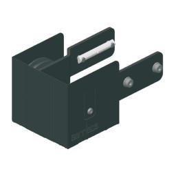 CARGO: Polea de cabeza para sistemas motorizados, color negro