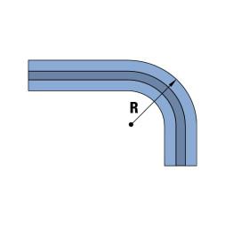ELEGANCE: Curva para carril deslizante de una vía