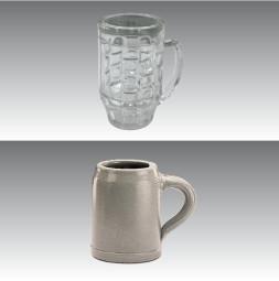 Cristal de resina GERO: Jarras de cerveza 0,5 l