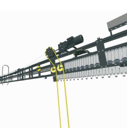 Sistema de carril de tijera FENCE