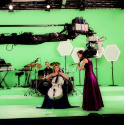 TV-/Filmstudio Greenbox made of TELEVISION CS and VARIO<br>Client: Musik Paradies GmbH, Hollabrunn / Austria