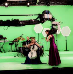 TV-/Filmstudio Greenbox made of TELEVISION CS and VARIO<br>Client: Musik Paradies GmbH, Hollabrunn / Austria